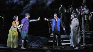 A scene from The Pearl Fishers - at the Met.